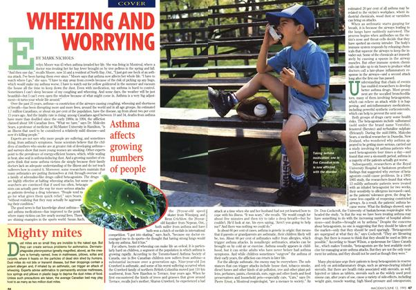 Article Preview: WHEEZING AND WORRYING, June 1995 | Maclean's