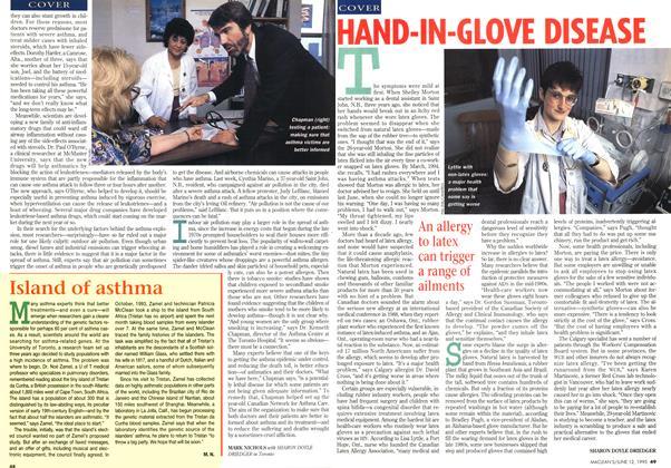 Article Preview: HAND-IN-GLOVE DISEASE, June 1995 | Maclean's