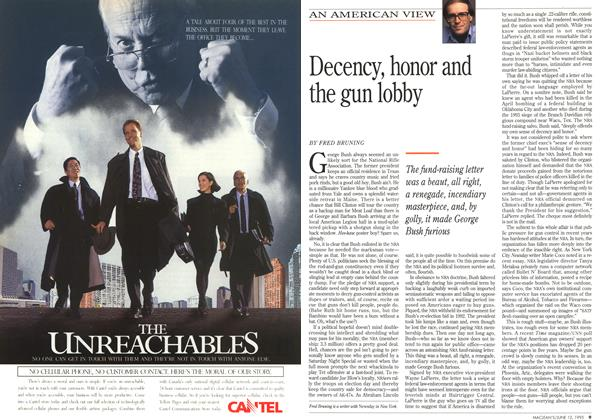 Article Preview: Decency, honor and the gun lobby, June 1995 | Maclean's