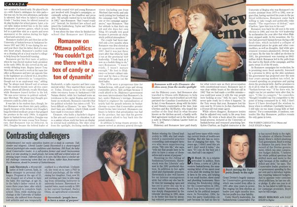 Article Preview: Contrasting challengers, June 1995 | Maclean's