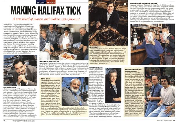 Article Preview: MAKING HALIFAX TICK, June 1995 | Maclean's