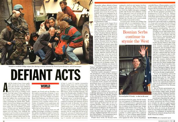 Article Preview: DEFIANT ACTS, June 1995 | Maclean's