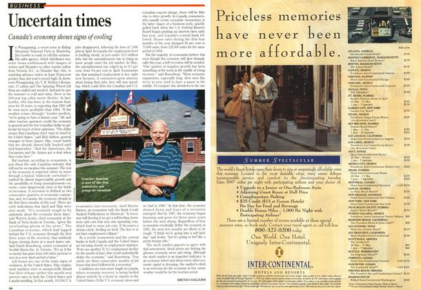 Article Preview: Uncertain times, June 1995 | Maclean's