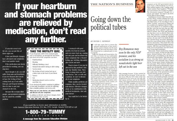 Article Preview: Going down the political tubes, June 1995 | Maclean's