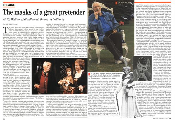 Article Preview: The masks of a great pretender, June 1995 | Maclean's