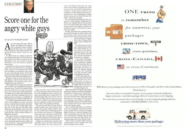Article Preview: Score one for the angry white guys, June 1995 | Maclean's