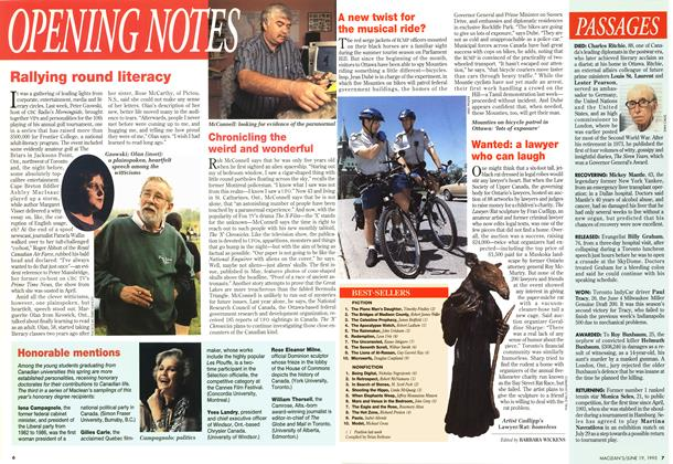 Article Preview: OPENING NOTES, June 1995 | Maclean's