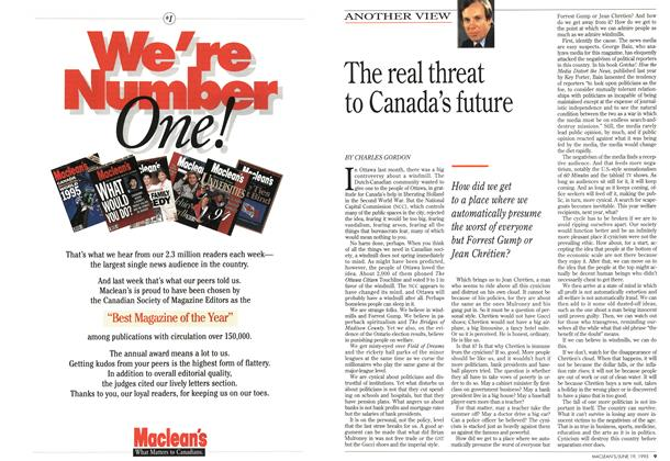 Article Preview: The real threat to Canada's future, June 1995 | Maclean's