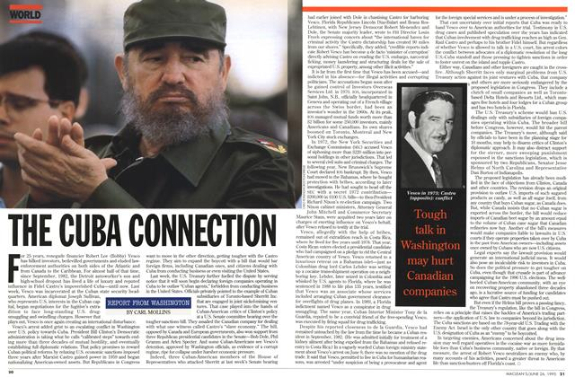 Article Preview: THE CUBA CONNECTION, June 1995 | Maclean's
