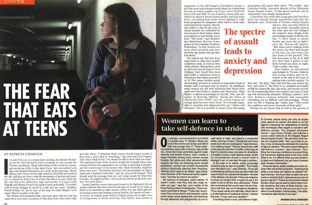 Article Preview: THE FEAR THAT EATS AT TEENS, June 1995 | Maclean's