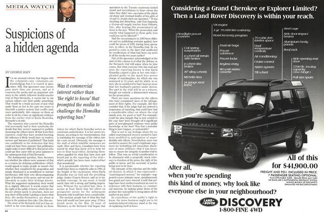 Article Preview: Suspicions of a hidden agenda, June 1995 | Maclean's