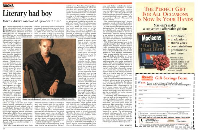 Article Preview: Literary bad boy, June 1995 | Maclean's