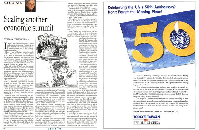 Article Preview: Scaling another economic summit, June 1995 | Maclean's