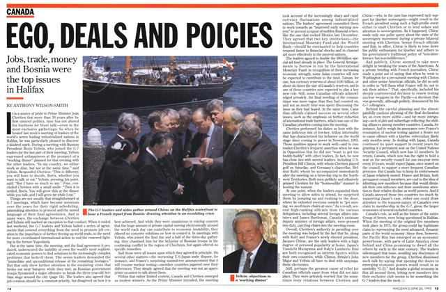 Article Preview: EGO, DEALS AND POL CIES, June 1995 | Maclean's