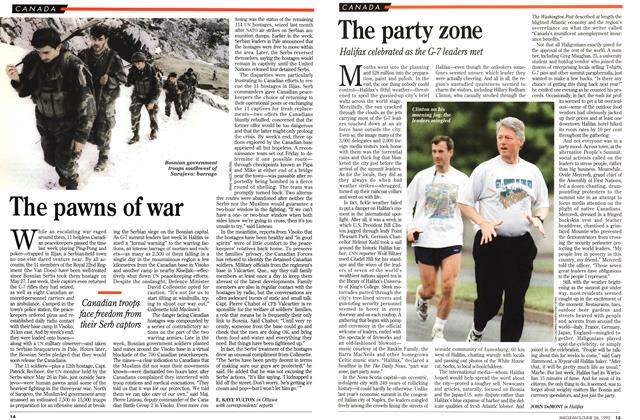 Article Preview: The party zone, June 1995 | Maclean's