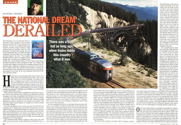 Article Preview: THE NATIONAL DREAM DERAILED, July 1995 | Maclean's
