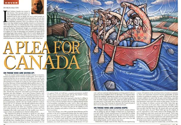 Article Preview: APLEA FOR CANADA, July 1995 | Maclean's