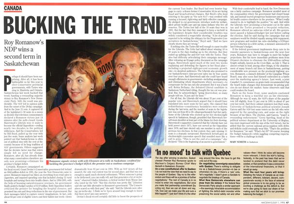 Article Preview: BUCKING THE TREND, July 1995   Maclean's