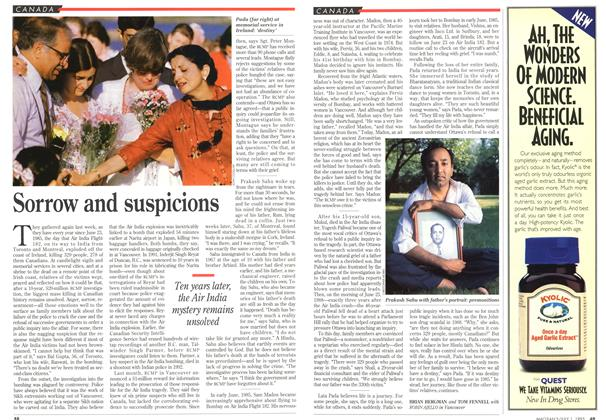 Article Preview: Sorrow and suspicions, July 1995 | Maclean's