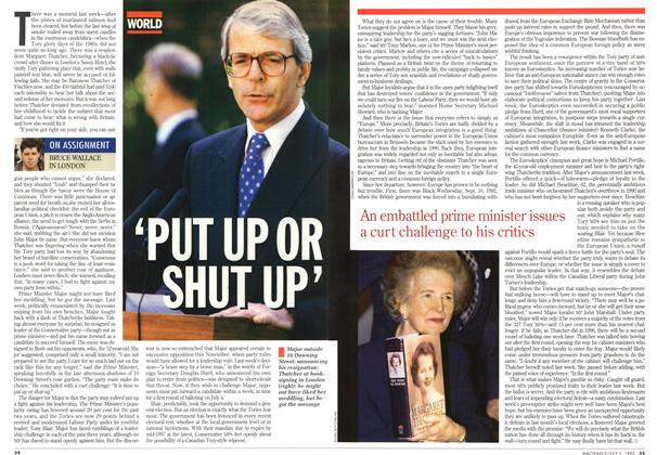 Article Preview: 'PUT UP OR SHUT UP', July 1995 | Maclean's