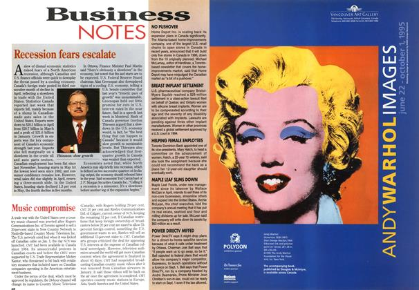 Article Preview: Business NOTES, July 1995 | Maclean's