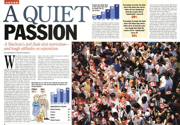 Article Preview: A QUIET PASSION, July 1995 | Maclean's