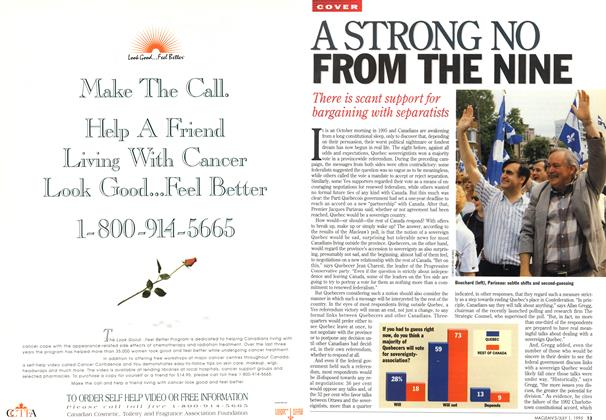 Article Preview: A STRONG NO FROM THE NINE, July 1995 | Maclean's
