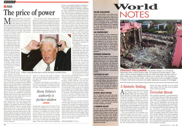 Article Preview: The price of power, July 1995 | Maclean's