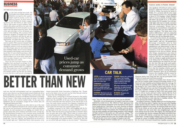 Article Preview: BETTER THAN NEW, July 1995 | Maclean's