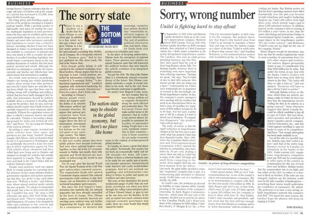 Article Preview: The sorry state, July 1995 | Maclean's