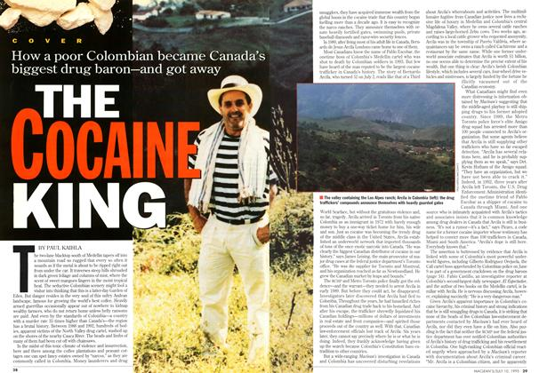 Article Preview: THE COCAINE KING, July 1995 | Maclean's
