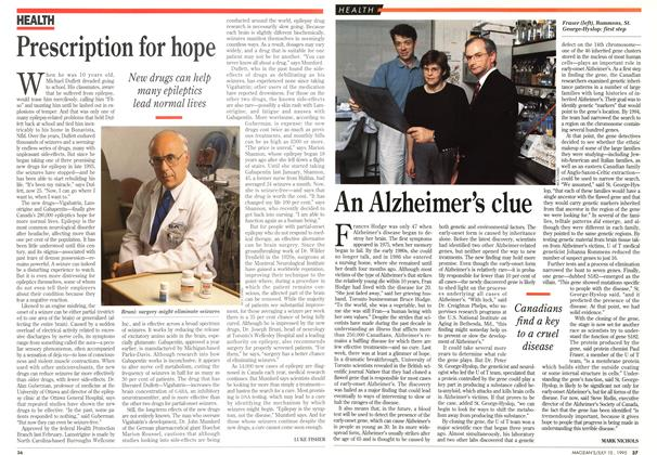 Article Preview: An Alzheimer's clue, July 1995 | Maclean's