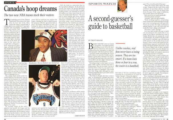 Article Preview: A second-guesser's guide to basketball, July 1995 | Maclean's