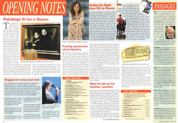 Article Preview: OPENING NOTES, July 1995 | Maclean's