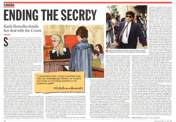 Article Preview: ENDING THE SECRECY, July 1995 | Maclean's