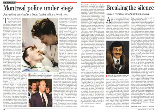 Article Preview: Breaking the silence, July 1995 | Maclean's