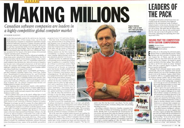 Article Preview: MAKING MILLIONS, July 1995 | Maclean's