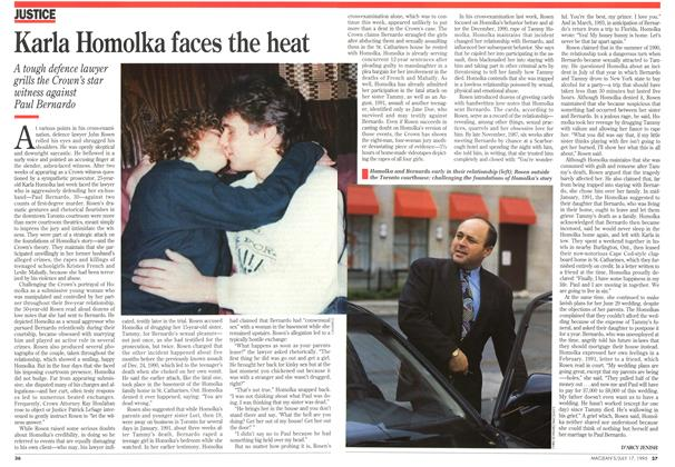 Article Preview: Karla Homolka faces the heat, July 1995 | Maclean's