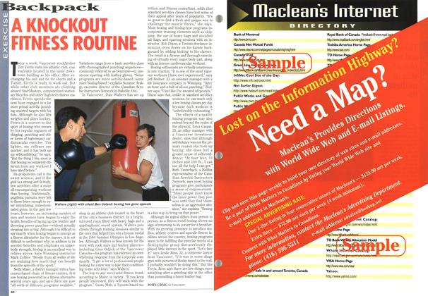 Article Preview: A KNOCKOUT FITNESS ROUTINE, July 1995 | Maclean's
