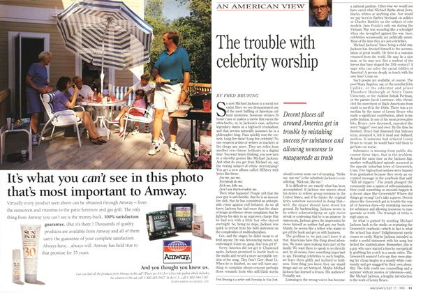 Article Preview: The trouble with celebrity worship, July 1995 | Maclean's