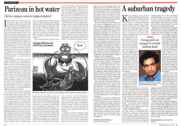 Article Preview: Parizeau in hot water, July 1995 | Maclean's