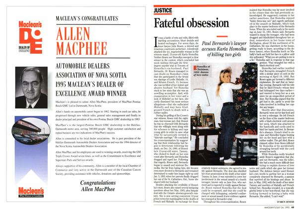 Article Preview: Fateful obsession, July 1995 | Maclean's