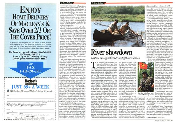 Article Preview: River showdown, July 1995 | Maclean's