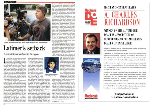 Article Preview: Latimer's setback, July 1995 | Maclean's