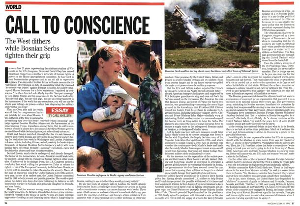 Article Preview: CALL TO CONSCIENCE, July 1995 | Maclean's