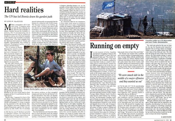 Article Preview: Running on empty, July 1995 | Maclean's