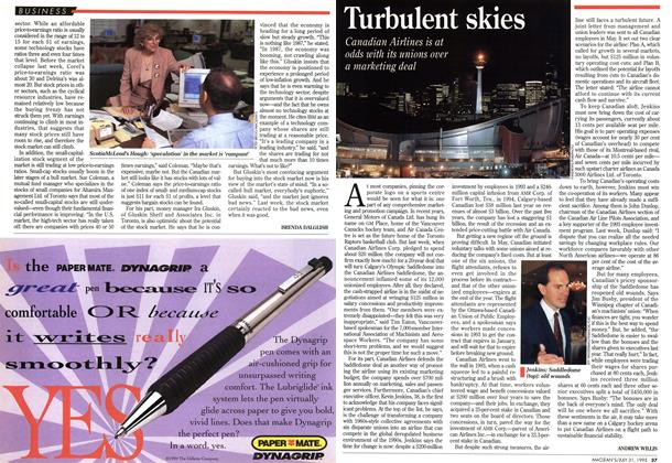 Article Preview: Turbulent skies, July 1995 | Maclean's