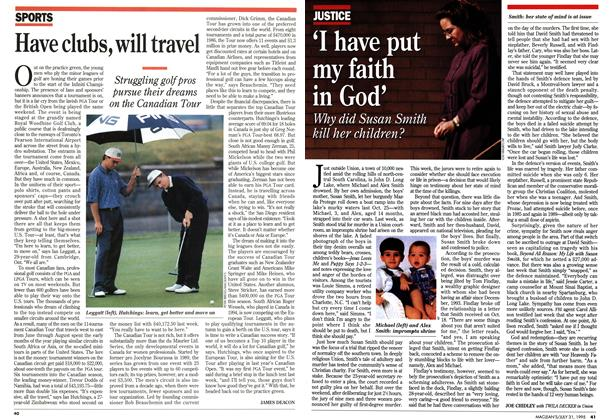Article Preview: Have clubs, will travel, July 1995 | Maclean's