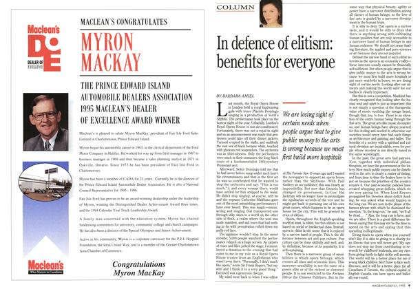 Article Preview: In defence of elitism: benefits for everyone, July 1995 | Maclean's