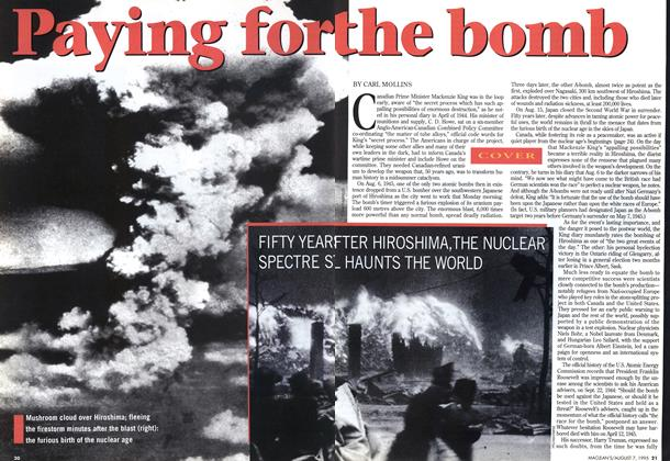 Article Preview: Playing for the bomb, August 1995 | Maclean's
